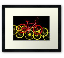 I love to ride my bicycle Framed Print
