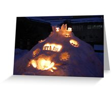 Otaru snow festival Greeting Card