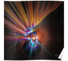 'Light Flame Abstract 270' Poster