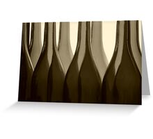 Wine Bottles in Sepia Greeting Card