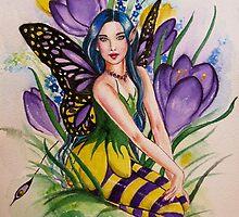 Fairy fantasy crocus tote bag by Gabriella  Szabo