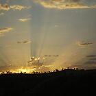 Sunset over the hills of Gundagai  by Vicki Hancock