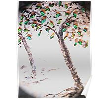 Trees on a Hill Poster