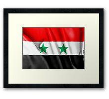 Syria Flag Framed Print