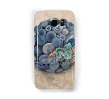 Something Blue: ButtonBelleBridal Bouquet Samsung Galaxy Case/Skin