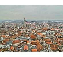 Birdseye view of Bruges Photographic Print
