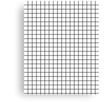 Emmy -- Black and White Grid, black and white, grid, monochrome, minimal grid design cell phone case Canvas Print