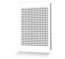 Emmy -- Black and White Grid, black and white, grid, monochrome, minimal grid design cell phone case Greeting Card