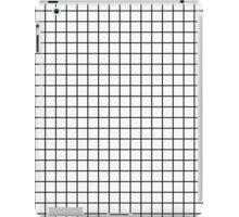 Emmy -- Black and White Grid, black and white, grid, monochrome, minimal grid design cell phone case iPad Case/Skin