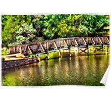 Bridge Over Emerald Lake Poster