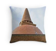 In a Stupa, Once More... Throw Pillow