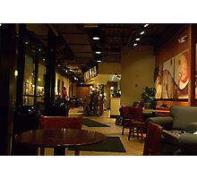 Quiet Night at the Coffee House Photographic Print