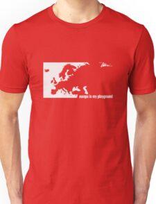 Europe is my playground (White) Unisex T-Shirt