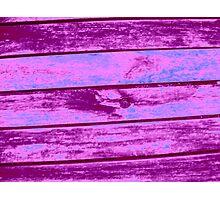Planks of Purple Photographic Print