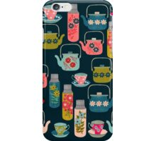 Vintage Thermos - Teacups and Teapots by Andrea Lauren iPhone Case/Skin