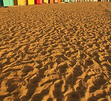 Bathing Boxes, Brighton by Calculus