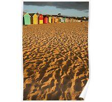 Bathing Boxes, Brighton Poster
