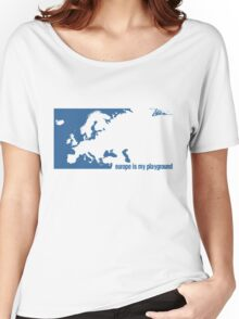Europe is our playground (Blue) Women's Relaxed Fit T-Shirt