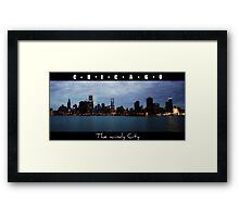 CHICAGO - The windy city in Colour Framed Print