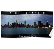 CHICAGO - The windy city in Colour Poster