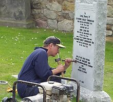 A grave sight at St Andrews by Natasha Lovik