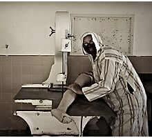 Leg Butcher Photographic Print