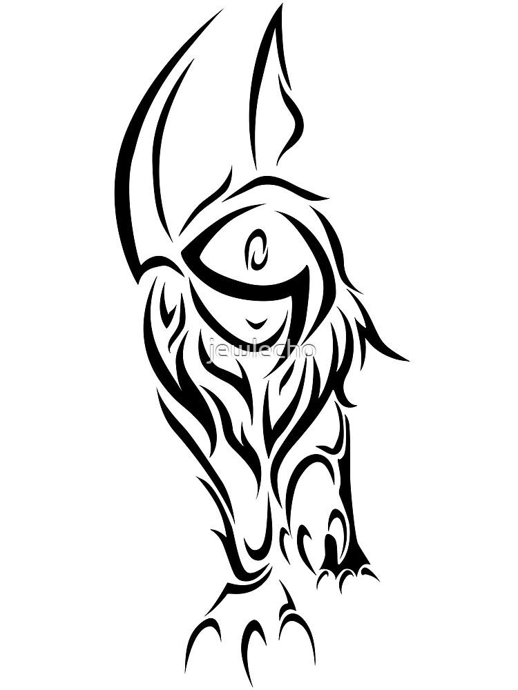 Tribal Absol by jewlecho