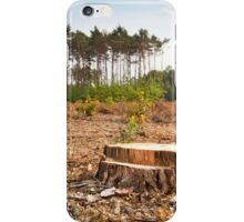 Woods lone trunk in deforestation iPhone Case/Skin