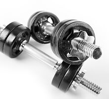 Chrome bolt on hand barbells weights by Arletta Cwalina