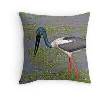 Black-necked Stalk at Yellow Water Billabong Throw Pillow