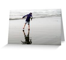 Low Tide Reflection Greeting Card