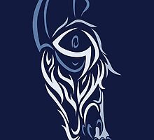 Tribal Absol Colored by jewlecho