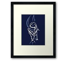 Tribal Absol Colored Framed Print
