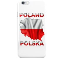 Poland Flag Country Outline iPhone Case/Skin