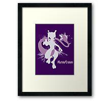Mewtwo Silhouette Shirt Framed Print
