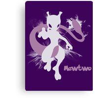 Mewtwo Silhouette Shirt Canvas Print