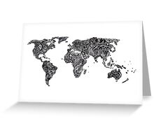 World Map in a parallel universe Greeting Card