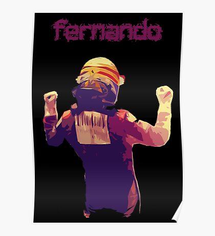 Fernando Alonso Korea 2010 Win Poster
