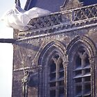 The church at Sainte-Mere-Eglise, Normandy. by Peter Stephenson