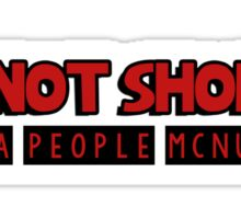 I am not short, I am a people mcnugget Sticker