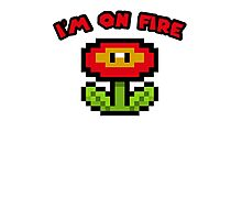 I am on fire - fire flower Photographic Print