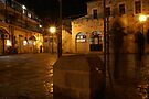 Jerusalem old courtyard by Moshe Cohen