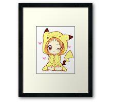 Pikachu Girl! ♥ Framed Print