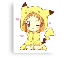 Pikachu Girl! ♥ Canvas Print