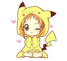 Pikachu Girl! ♥ Photographic Print