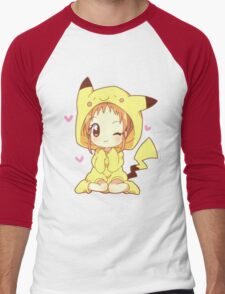 Pikachu Girl! ♥ Men's Baseball ¾ T-Shirt