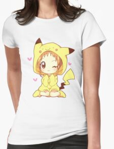 Pikachu Girl! ♥ Womens Fitted T-Shirt