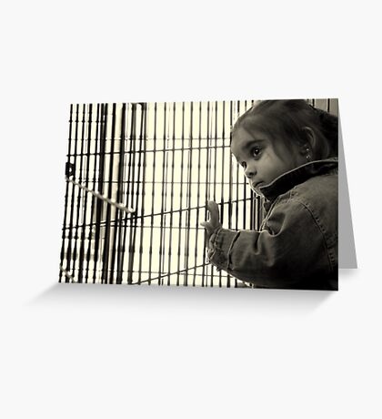 Face of a refugee child Greeting Card