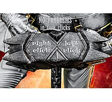 Medieval knight - No Problems In Two Clicks Photographic Print