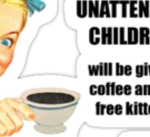 Unattended Children Sticker